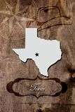 Poster Texas state map outline Royalty Free Stock Photography