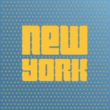 Poster with text  New York Stock Photos