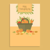 Poster for Thanksgiving day with pumpkins Stock Photography