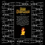 A poster on the theme of the Halloween holiday. A sketch of the invitation or other cards with space for your text stock illustration