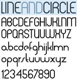 Poster thin circle black font. Stock Photos