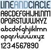 Poster thin circle black font and numbers. Royalty Free Stock Photography