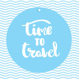 Poster Time to travel inspirational typography Royalty Free Stock Photography