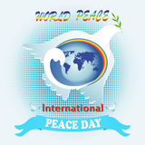 Poster to the International Day of Peace Stock Images