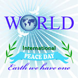 Poster to the International Day of Peace Stock Photography