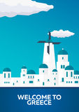 Poster Travel to Greece skyline. Acropolis. Vector illustration. Royalty Free Stock Images