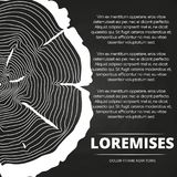 Poster with tree rings design Royalty Free Stock Image