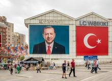 Poster of Turkish Prime Minister Recep Tayyip Erdogan stock photo