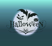 Poster typography of a halloween. Poster, logo typography of a halloween. Vector Illustration Royalty Free Stock Photo