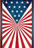 Poster of us flag Stock Image