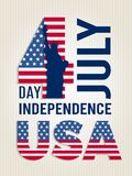 Poster for USA independence day. Vector design template of american 4 july retro placard. Poster for USA independence day. Design template of american 4 july royalty free illustration