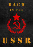 Poster of USSR. Soviet union, socialism Stock Images