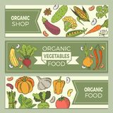 Poster with vegetables. Eat healthy food poster with fresh vegetables on blackboard Stock Image