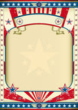 Poster velho americano Imagens de Stock Royalty Free