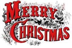 Poster velho do Natal áspero. Imagens de Stock Royalty Free