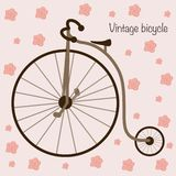 Vintage bicycle - vector illustration, eps royalty free illustration