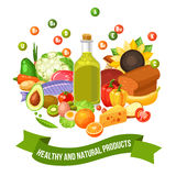 Poster Of Vitamin Food Products Royalty Free Stock Images