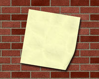 Poster on the wall royalty free stock photo