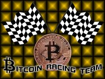 Bitcoin racing team Stock Photography