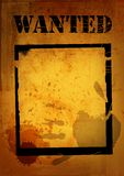 Poster wanted Stock Images