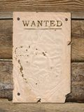 Poster Wanted. Wild West styled poster wanted. Place for announcements royalty free stock photo