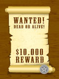 Poster Wanted dead or alive Stock Photography