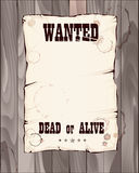 Poster wanted dead or alive Royalty Free Stock Images