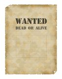 Poster Wanted Dead Or Alive Stock Photos