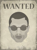 Poster wanted men Royalty Free Stock Images