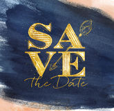 Poster wedding save date blue Royalty Free Stock Photography