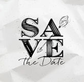 Poster wedding save date Stock Images