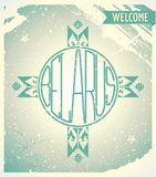 Poster welcome to Belarus with ornament Stock Photo