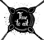 Poster on white background  time for food Royalty Free Stock Images