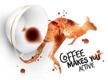 Poster wild coffee kangaroo Royalty Free Stock Photos
