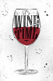 Poster wine time Stock Photo