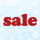Poster for winter sales Royalty Free Stock Photography