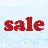 Poster for winter sales Stock Photography