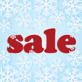 Poster for winter sales Royalty Free Stock Images