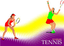 Poster of Woman Tennis player Stock Image