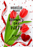 Poster for Women`s Day party Stock Photo