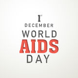 Poster of World Aids Day. 1st December, World Aids awareness Day poster on white background Stock Photography