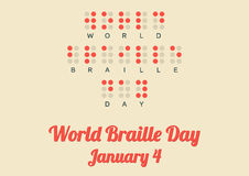 Poster for World Braille Day (January 4) Royalty Free Stock Photos