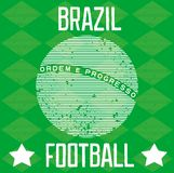 Poster for the World Cup in Brazil Royalty Free Stock Photos