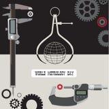 Poster World Metrology Day Stock Photo