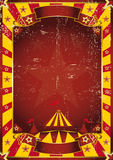 Poster yellow dirty circus Stock Photography