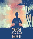 Poster for yoga practice Stock Image