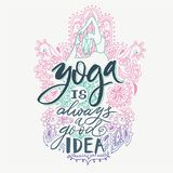 Poster yoga studio and meditation class logo, icons and design elements. Health care, sport and fitness design elements vector illustration