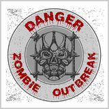 Poster Zombie Outbreak. Stock Photography
