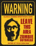 Poster zombie outbreak sign board Royalty Free Stock Photos