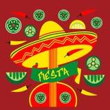 Postercinco mexicano de Mayo del día de fiesta